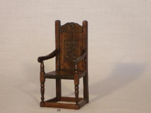 23. Heavy Tudor Chair
